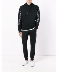 McQ Alexander McQueen - Black Print Hooded Sweat for Men - Lyst