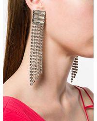 Alberta Ferretti - Metallic Crystal Waterfall Earrings - Lyst