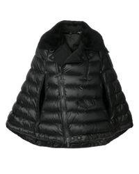 Moncler Grenoble Black Quilted Cape Jacket