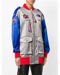 Tommy Hilfiger Gray X Gigi Hadid Racer Bomber Jacket