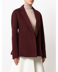 Theory - Purple Double-faced Pleated Jacket - Lyst