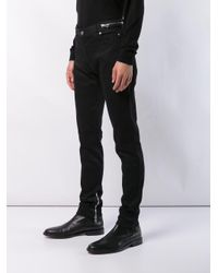 Balmain - Black Low Rise Skinny Jeans for Men - Lyst