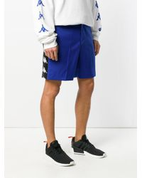 Paura - Blue X Kappa Zack Oversized Shorts for Men - Lyst