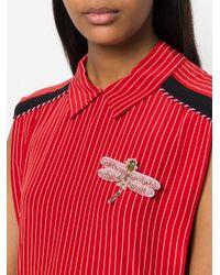 Vivetta - Pink Butterfly Brooch - Lyst