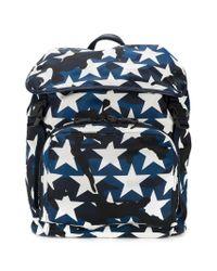 Valentino - Blue Garavani Rockstud Camustars Backpack for Men - Lyst