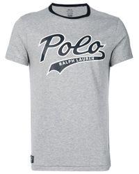 Polo Ralph Lauren | Gray Logo Print T-shirt for Men | Lyst