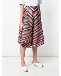 Pleats Please Issey Miyake - Multicolor Wide-leg Striped Trousers - Lyst