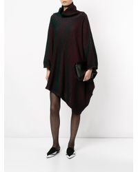 Issey Miyake - Black Knitted Roll Neck Dress - Lyst