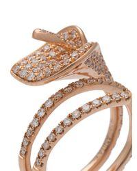 Anita Ko - Metallic Flower Ring - Lyst