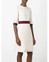 Gucci Multicolor Web Waist Detail Dress
