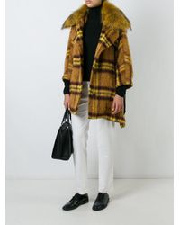 P.A.R.O.S.H. - Multicolor Checked Mid-length Coat - Lyst