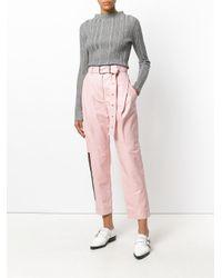 Proenza Schouler - Pink Zip Detail Trousers - Lyst