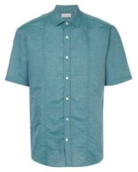 Cerruti 1881 - Green Short-sleeve Shirt for Men - Lyst