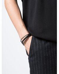 Tateossian - Black Cobra Leather Bracelet for Men - Lyst