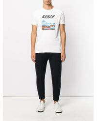 KENZO - White Branded T-shirt for Men - Lyst
