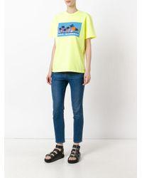 Alexander Wang - Yellow 'mind Detergent' Short Sleeve T-shirt - Lyst