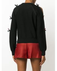 Emilio Pucci - Black Bow-embellished Sweater - Lyst