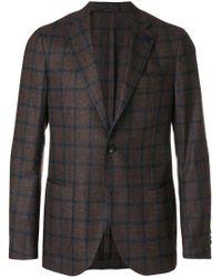 Lardini | Brown Patterned Single Breasted Blazer for Men | Lyst