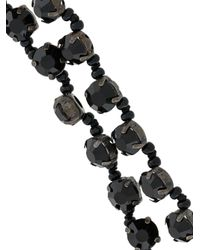 Ann Demeulemeester - Black Long Beaded Necklace - Lyst