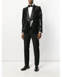 Christian Pellizzari - Black Sequin Smoking Jacket for Men - Lyst