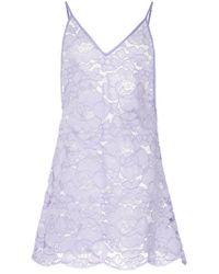 Romance Was Born - Purple Fantasy Lace Slip - Lyst