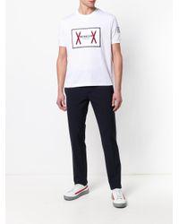 Moncler - White Logo Print T-shirt for Men - Lyst