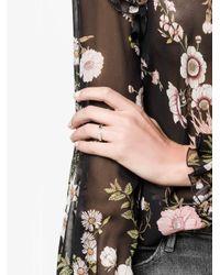 Lizzie Mandler | Metallic Othello Chevron Pave Ring | Lyst