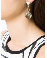 Camila Klein - Multicolor Crystal Embellished Drop Earrings - Lyst