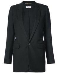 Saint Laurent - Black Single Breasted Tube Jacket - Lyst