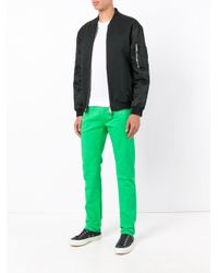 PT01 - Green Classic Chino Trousers for Men - Lyst