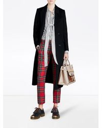 Burberry - Natural Banner Fringed Pocket Tote - Lyst