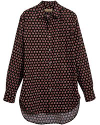 Burberry - Black Spot Print Shirt for Men - Lyst