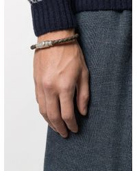 Ferragamo - Brown Thin Woven Bracelet for Men - Lyst