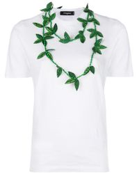 DSquared² - White Necklace Applique T-shirt - Lyst