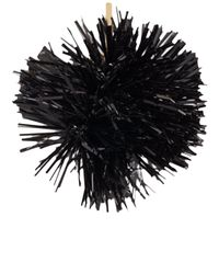 Tuleste - Black Pom Pom Drop Earrings - Lyst