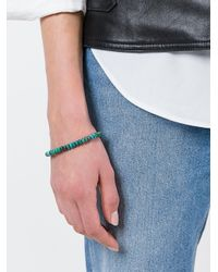 M. Cohen - Green Stacked Beaded Bracelet - Lyst