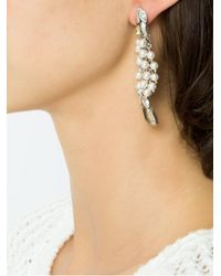 Camila Klein - Metallic Embellished Drop Earrings - Lyst
