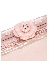 Oscar de la Renta - Pink Rogan Box Clutch - Lyst