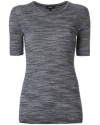 Theory - Blue Ribbed Fitted T-shirt - Lyst