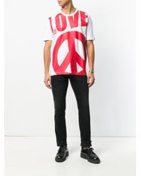 Love Moschino - White Love Print T-shirt for Men - Lyst