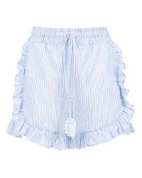 Martha Medeiros - Blue Striped Shorts - Lyst