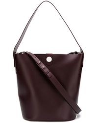 Sophie Hulme - Red Calf Leather Tote Bag - Lyst