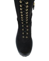 Twin Set - Black Lace Up Boots - Lyst
