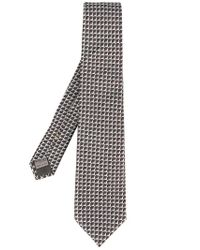 Canali - Gray Geometric Jacquard Tie for Men - Lyst