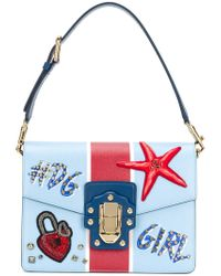 Dolce & Gabbana - Dolce E Gabbana Women's Blue Leather Handbag - Lyst