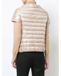 Herno - Brown Short Sleeve Padded Jacket - Lyst