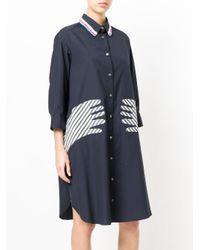 Tsumori Chisato - Blue Hands Motif Shirt Dress - Lyst