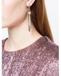 Jil Sander - Metallic Embellished Drop Earrings - Lyst