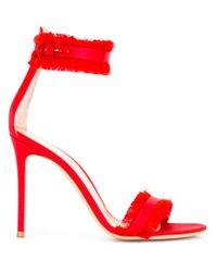 Gianvito Rossi - Red Caribe 10.5 Sandals - Lyst