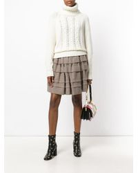 Ermanno Scervino - White Ribbed Chunky Knitted Jumper - Lyst